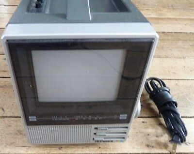 Rare Telefunken Y2040 Portable Black White Digital Tv