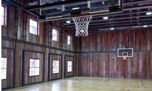 The Coolest Homes With Indoor Basketball Courts Digital Trends Indoor Basketball Court Home Basketball Court Indoor Basketball