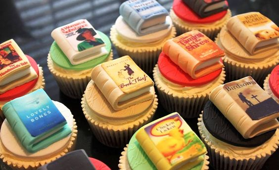 Amazing book cupcakes from Victoria's Kitchen.