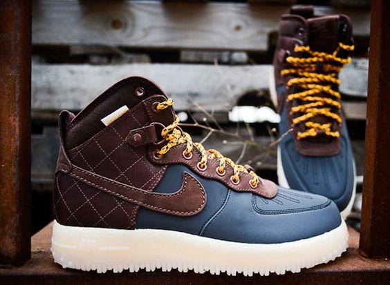 nike shox légende formateur - Nike Air Force 1 High Duckboot - Blue & Brown | KicksOnFire ...