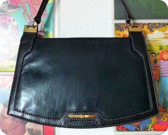 VINTAGE LEDER Tasche Schultertasche Saddle Bag Umhängetasche Handtasche Blau in Kleidung & Accessoires, Damentaschen | eBay