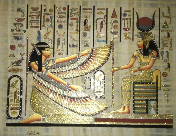 Arte egipcio papiro egipcio 900 00 en mercadolibre for Mural egipcio