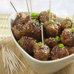 Chicken meatballs, Teriyaki chicken and Party nibbles on Pinterest
