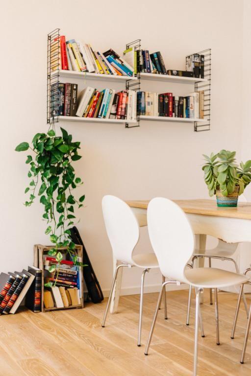 wohn- und esszimmer-inspiration: heller boden, tisch mit weißen ... - Wohnzimmer Ideen Heller Boden