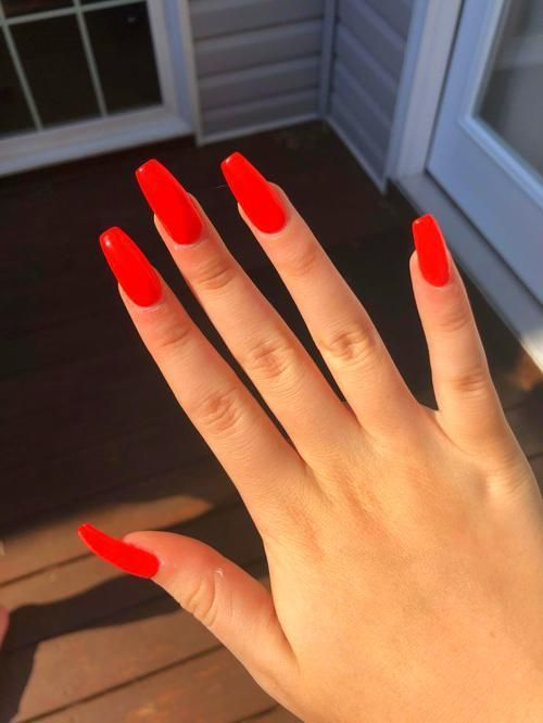 Acrylic Nails Coffin Red Acrylic Nails Best Acrylic Nails Pretty Acrylic Nails