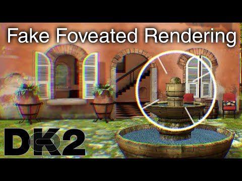 Oculus Rift DK2  Gefälschte Foveated Rendering demo #vr #virtualreality #oculus #oculusrift #gearvr #htcvivve #projektmorpheus #cardboard #video #videos