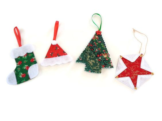 Christmas ornament - Fabric ornament - Christmas tree decorations - Package topper - Package tag - Christmas decoration  Item #175 - pinned by pin4etsy.com