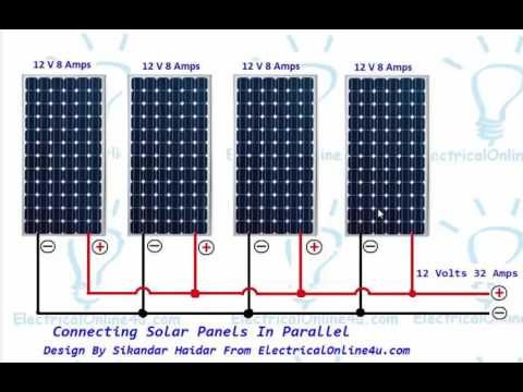 Connecting Solar Panels In Parallel Connection Solar Energy Panels Solar Energy Diy Solar Panels