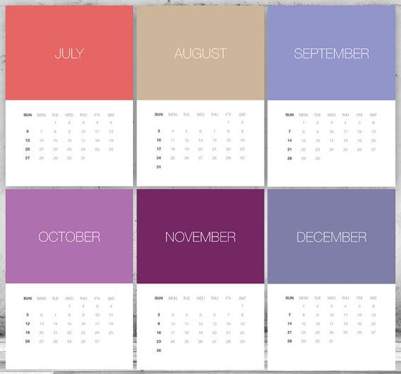 Love this printable Pantone calendar!