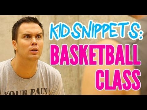 """Kid Snippets: """"Basketball Class"""" (Imagined by Kids) awww so cute"""