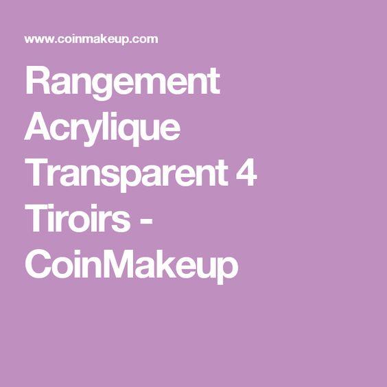 Rangement Acrylique Transparent 4 Tiroirs - CoinMakeup