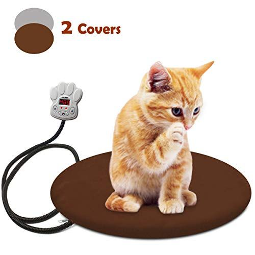 Fochea Pet Heating Pad Waterproof Electric Heating Pad Adjustable Warming Mat With 2 Removable Covers For Dogs Cats 157x Pet Heating Pad Cat Bed Heated Cat Bed