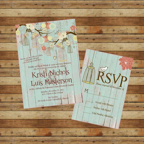 Wedding Invitations Birdcage: Vintage Birdcage Bird Cage Wedding Invitation & RSVPs