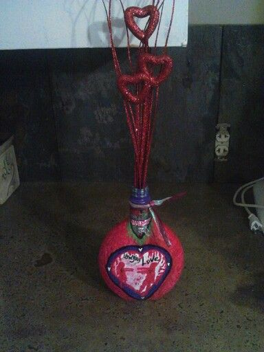 Zombie Love bottle/ vase
