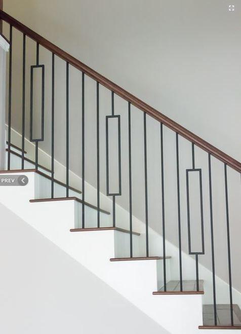 Hf16 6 3 Rectangle Tubular Steel Baluster Wrought Iron Stair | Tubular Stair Railings Design | Mid Century Modern | Simple | Home Tower | Welded | Creative