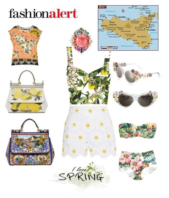 """""""#Sicily"""" by steffyyeah on Polyvore featuring moda, Dolce&Gabbana e Anabela Chan"""
