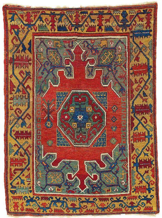 A rare carpet from the village of Karapinar, Central Anatolia, region Konya, 17th Century, Dimensions: 148 x 109 cm