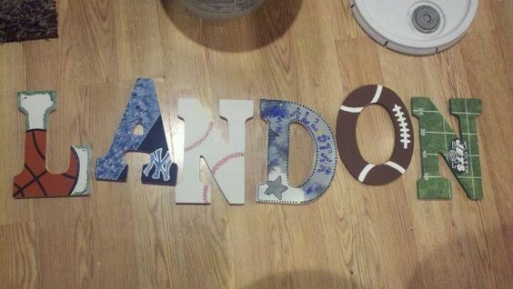 Sports wall letters macknbeanbowtique / facebook