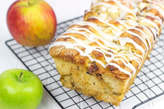 Maple Glazed Apple Pecan Bread - Spiced