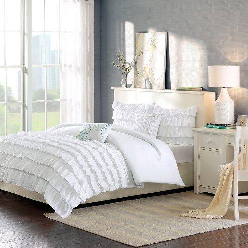 Intelligent Design Waterfall Comforter Set - White - Twin/TXL Intelligent Design,http://www.amazon.com/dp/B00HMJXPN6/ref=cm_sw_r_pi_dp_ARkGtb0MMWQNX57M