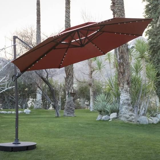 Arch Sun Umbrella Offset Patio Umbrella Patio Umbrella Bases Patio Umbrella