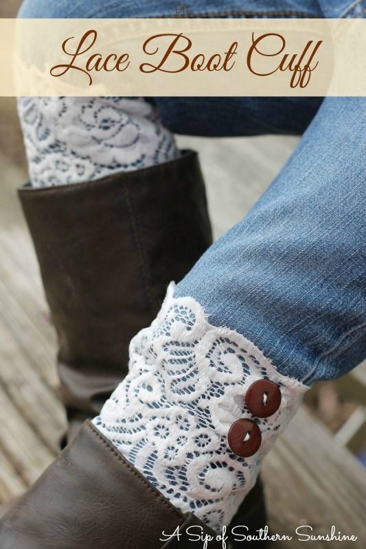 Looking for a cute, but easy handmade Christmas gift? These Lace DIY Boot Cuffs were ridiculously easy to make, even for a novice seamstress.