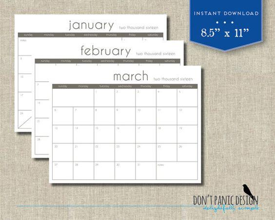 Calendários de parede, Calendário and Moderno on Pinterest - appointment planner