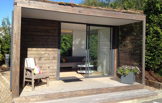 Cube skilpod veranda tuinhuis tuinkamer for Garden office cube