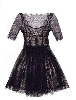 Tracy Reese Black Lace Overlay Dress