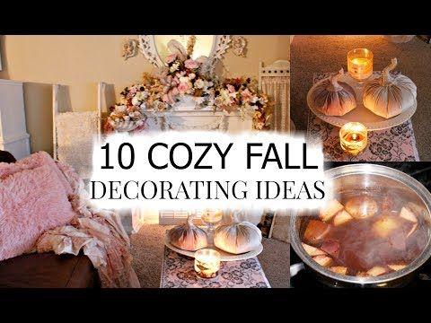 10 Cozy Fall Decorating Ideas I Love Fall Ep 11 Youtube In 2020 Seasonal Decor Fall Fall Decor Fall Room Decor Diy