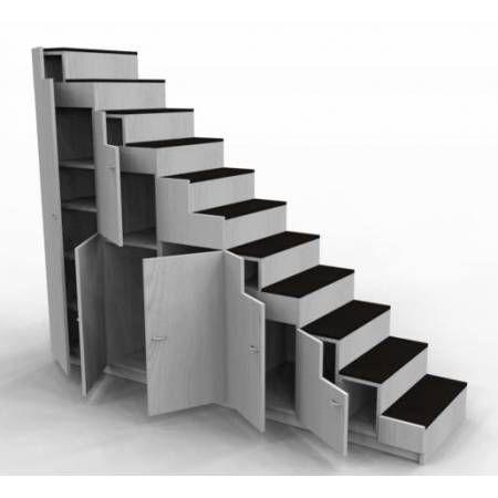 meuble escalier pour mezzanine avec rangements sur mesure escalier pinterest google. Black Bedroom Furniture Sets. Home Design Ideas