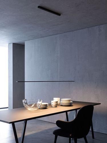 Led Deckenleuchte Pendelleuchte Schwarzbraun B 120 Cm Mit Sensordimmer Led Deckenleuchte Leuchte Esstisch Esstisch Beleuchtung