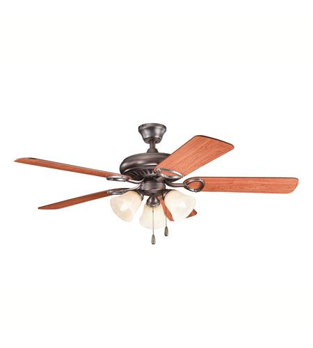 Kichler Lighting Sutter Place Premier 3 Light Fan in Oil Brushed Bronze 339400OBB #lightingnewyork #lny #lighting
