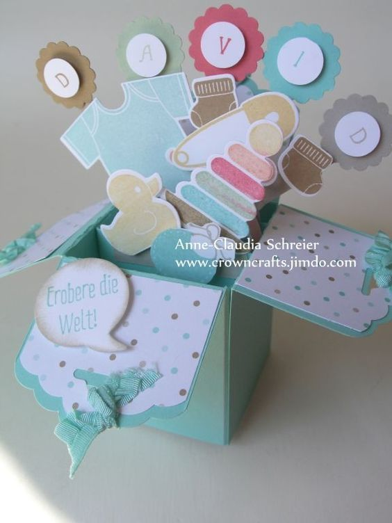 Card in a box - Stampin Up - Something for Baby!