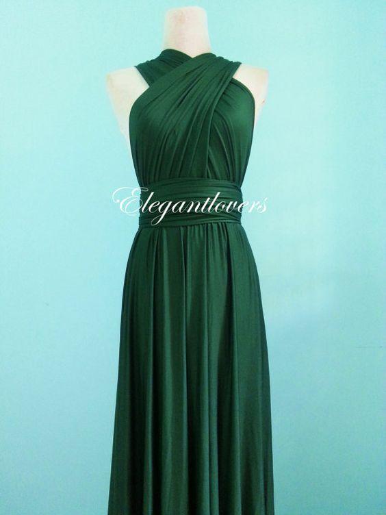 Dark Olive Wedding Dress Bridesmaids Dress von Elegantlovers