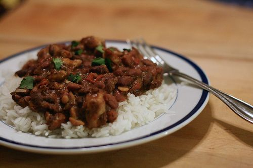 Crockpot Red Beans & Rice - will use another recipe - this is just to help get the cooking times for the crock pot.