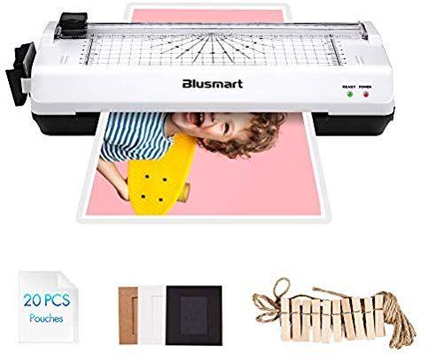 Amazon Com 5 In 1 Blusmart Laminator Set A4 Trimmer Corner Rounder 20 Laminating Pouches Photo Frames White Laminators Photo Frames Teaching Supplies