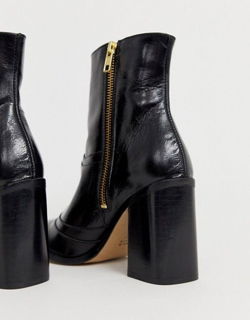 River Island heeled leather boots with