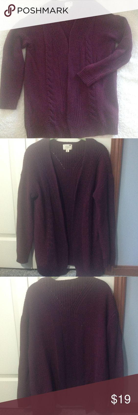 Pac Sun cardigan. M/L LA Hearts by Pac Sun cardigan sweater. Size Medium/Large.  Beautiful maroon color.  Thick, warm and cozy.  I absolutely love this item!  In excellent condition! LA Hearts Sweaters Cardigans