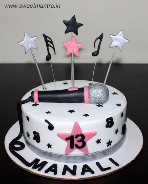 Astonishing Music And Singing Theme Customised Designer Cake For Teenage Funny Birthday Cards Online Hendilapandamsfinfo