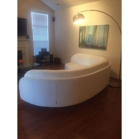 Image of W. Schillig Arabesque Modern White Sectional