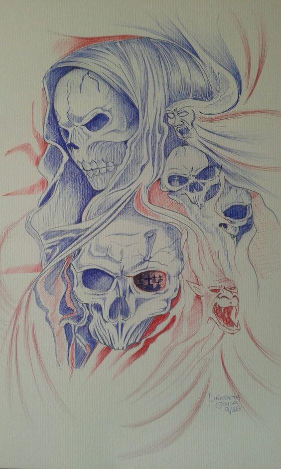 A Morte  Canetas esferográfica