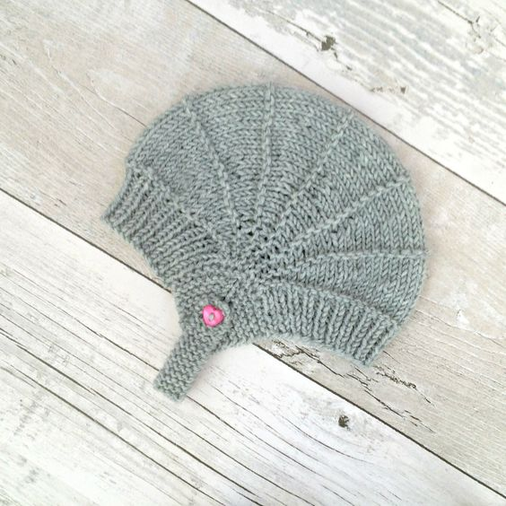 Light Grey Baby Aviator Hat, Gray Baby Ear Flap Hat, Merino Baby Hat, Hand Knit Baby Hat, Newborn Baby Hats, Newborn Photo Props, Baby Gifts by SnugCreations on Etsy