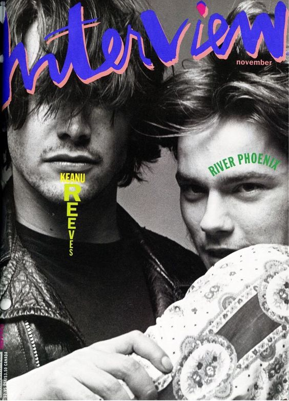 Keanu Reeves & River Phoenix by Bruce Weber Interview magazine ...