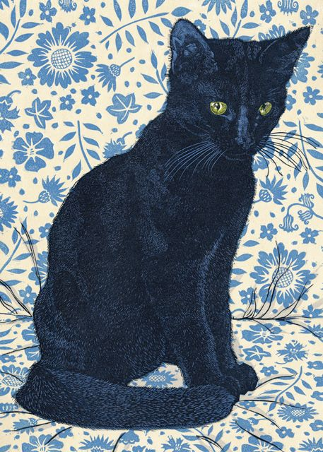 'Hector' By Printmaker Vanessa Lubach. Blank Art Cards By Green Pebble. www.greenpebble.co.uk