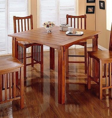 Mission Style Pub Table And 4 Chairs Nice Tall Kitchen Table Mission Style Kitchens Dining Table Rustic