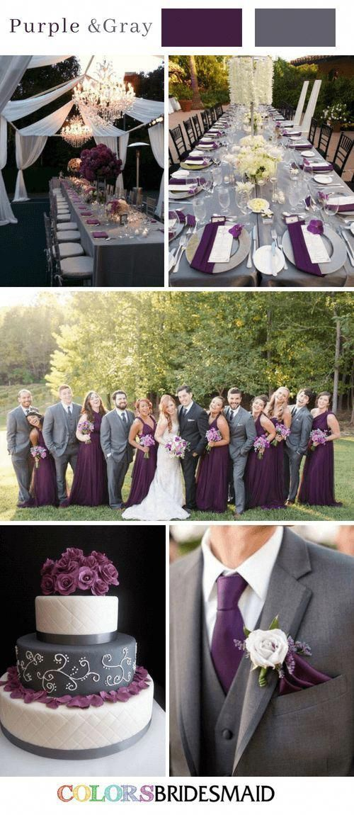 Fall Wedding Colors With Purple And Gray Fall Wedding Color