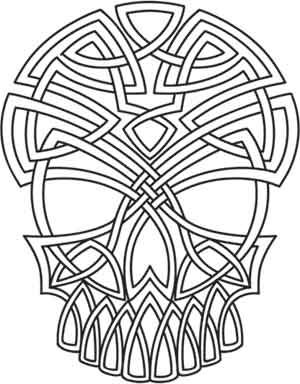 Embroidery Designs at Urban Threads - Celtic Skull