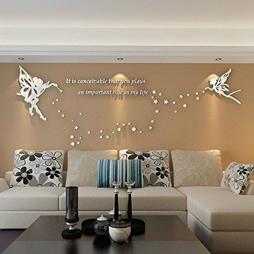 Alrens Tm Cute Elves Stars English Letters Crystal Acrylic 3d Wall Stickers Living Room Sofa Tv Back Kids Room Murals Diy Wall Decals Wall Stickers Living Room