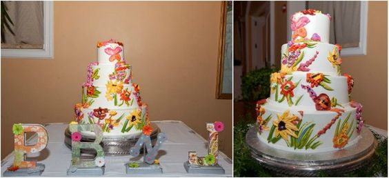 Colorful and Creative: The Real Wedding of Jenni and Brooks  #sacramento #wedding #cakes
